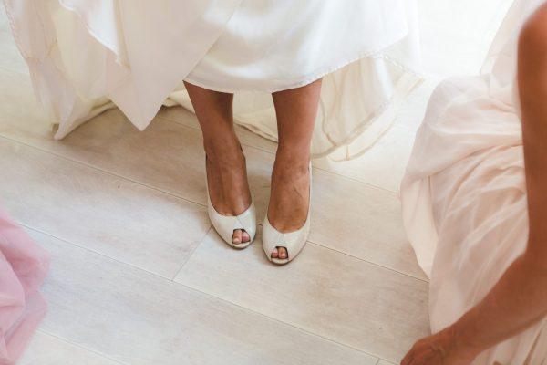 chaussure de mariée à bout ouvert