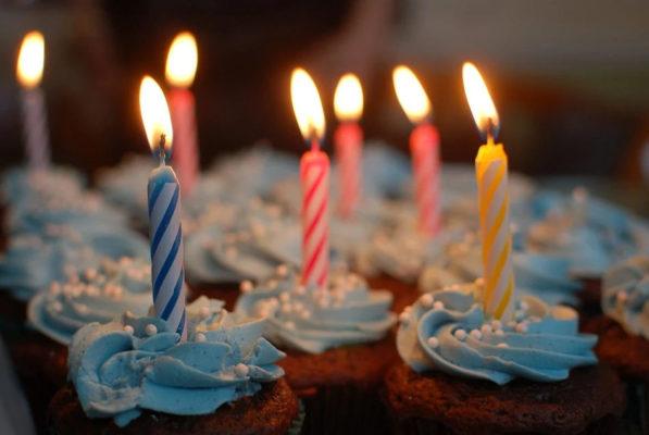 bougies gâteau anniversaire